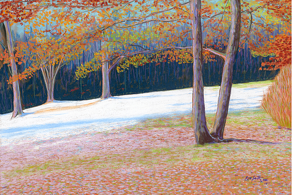 Pastels Pastel - Jack Tree In Early Winter by Rae  Smith PSC