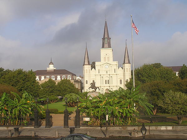 New Orleans Photograph - Jackson Square Morning by Jack Herrington