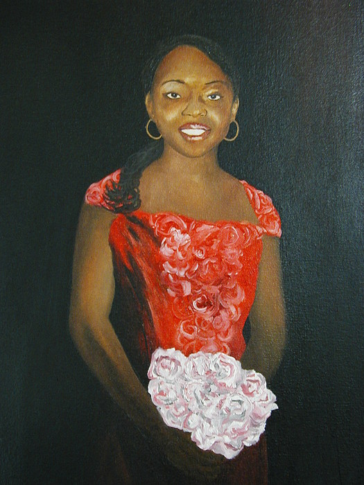Portrait Painting - Jaclyn by Angelo Thomas