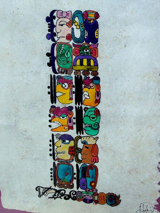 Mayan Painting - Jacobo by Francisco Fonseca y Venegas