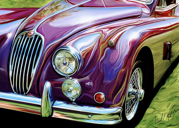 Jaguar Digital Art - Jaguar 140 Coupe by David Kyte