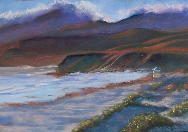 California Pastel - Jalama Beach At Sunset by Laurie Paci