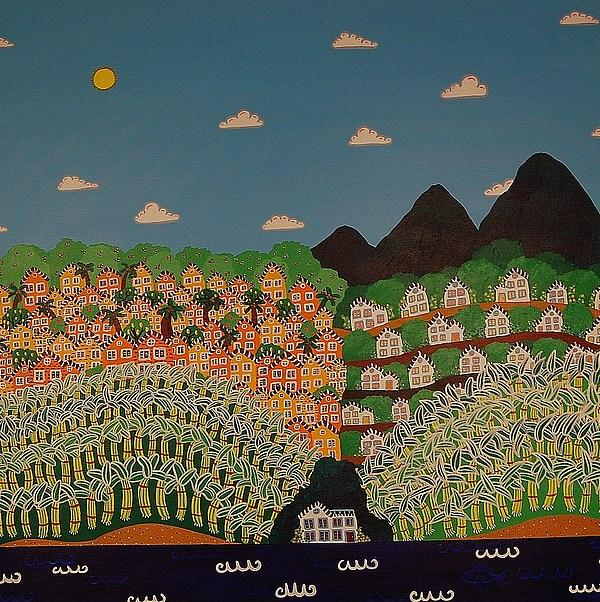 Jamaica Painting - Jamaican Landscape by Wendy Bridges