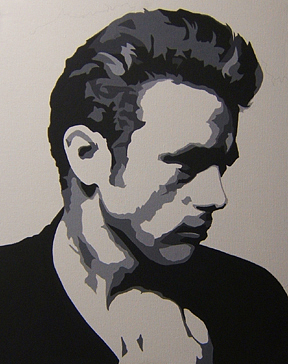James Dean Painting - James Dean - Profile by Michael James Toomy