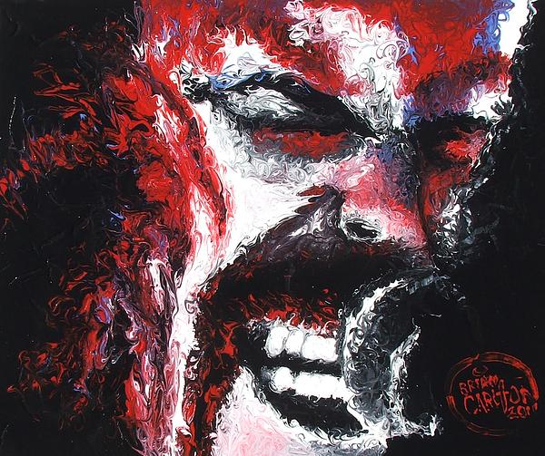 Metallica Painting - James Hetfield by Brian Carlton