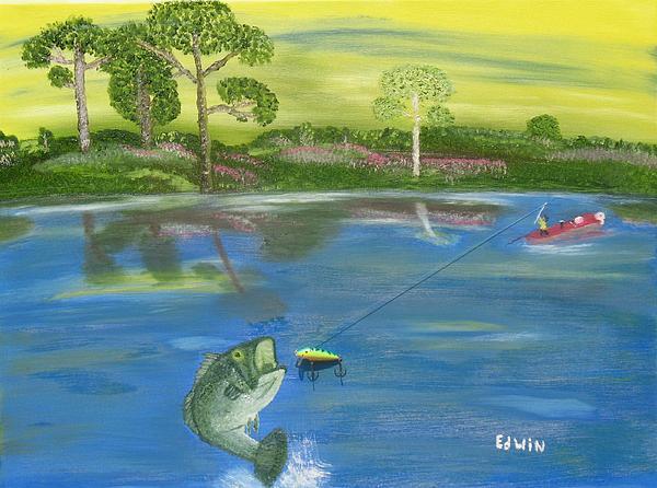 Bass Painting - James River Bass by Edwin Long