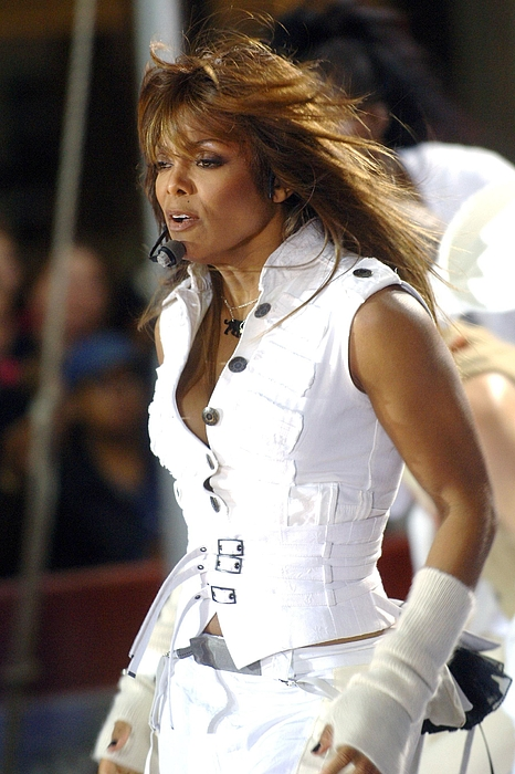 Rockefeller Center Photograph - Janet Jackson On Stage For Janet by Everett