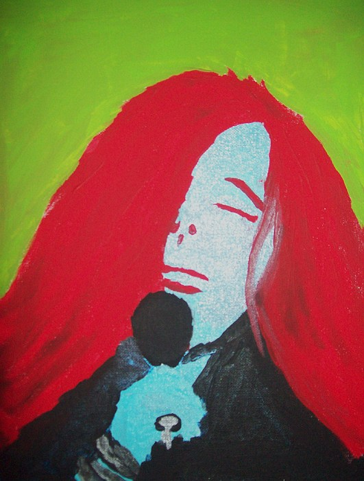 Portrait Painting - Janis Joplin by Justin Myers