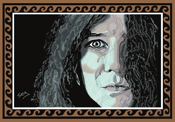 Janis Joplin Painting - Janis Joplin by Suzanne Gee