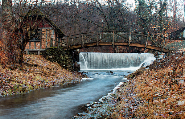 Long Exposure Photograph - January Morning At Gomez Mill #1 by Jeff Severson