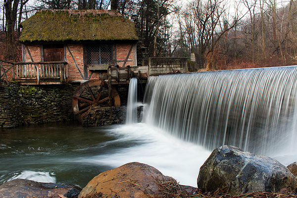 Waterfall Photograph - January Morning At Gomez Mill #2 by Jeff Severson