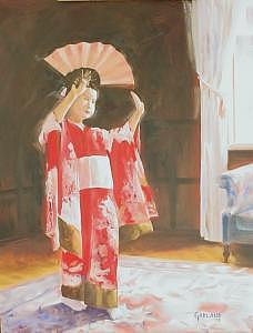 Portrait Painting - Japanese Dancer by Garland Fulghum