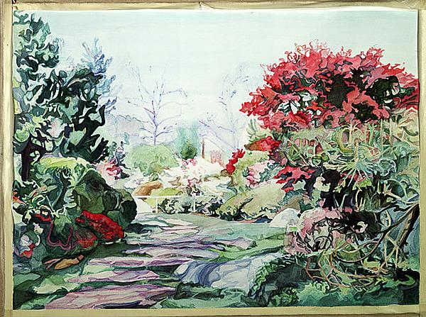 Japanese Painting - Japanese Gardens by Sharon Galli