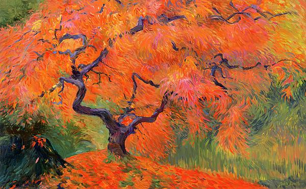 Japanese Maple Painting - Japanese Maple Tree by Judith Barath