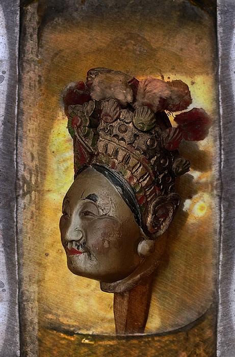 Japan Digital Art - Japanese Puppet Head Single by Jeff Burgess
