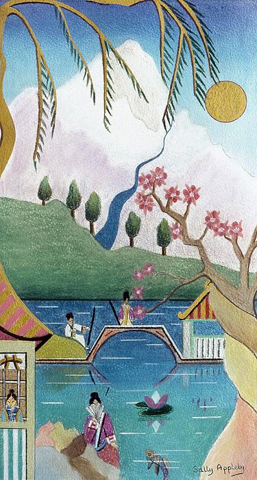 Fantasy Mixed Media - Japanese Willow by Sally Appleby