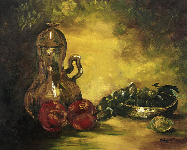 Fruit Painting - Jar With Fruit by Rebecca Kimbel