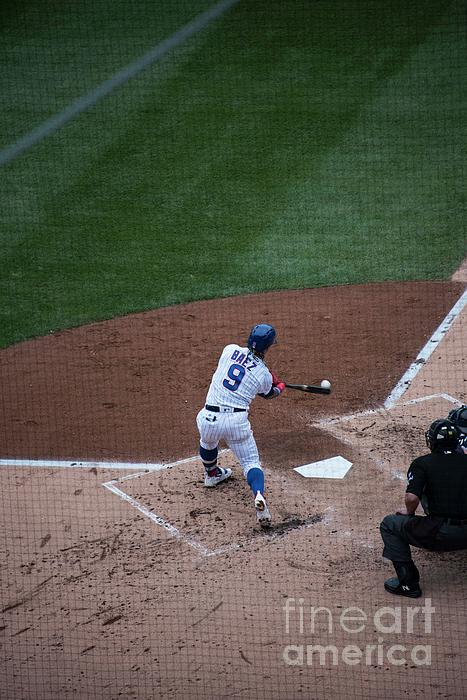 Chicago Cubs Photograph - Javy Baez by David Bearden