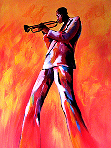 Abstract Painting - Jazz by Debora Calicchia