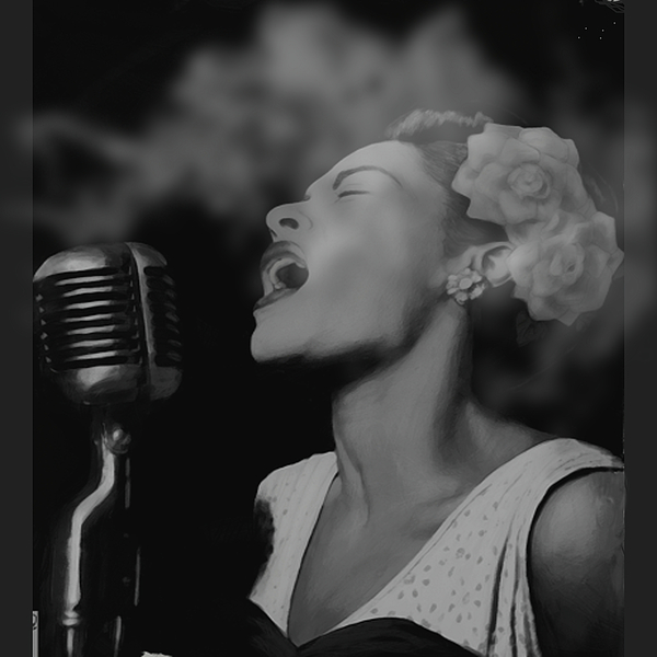Billie Holiday Digital Art - Jazz Great Billie Holiday by Michael Chatman