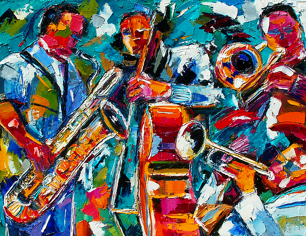 Jazz Painting - Jazz Magic by Debra Hurd