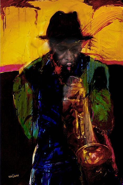 Jazz Digital Art - Jazz Man 3 by James VerDoorn