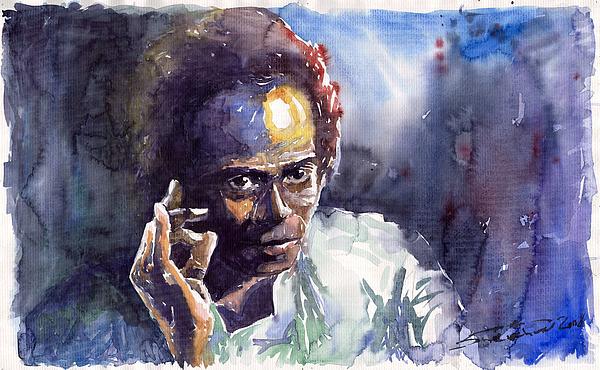 Jazz Miles Davis 11 Painting by Yuriy  Shevchuk