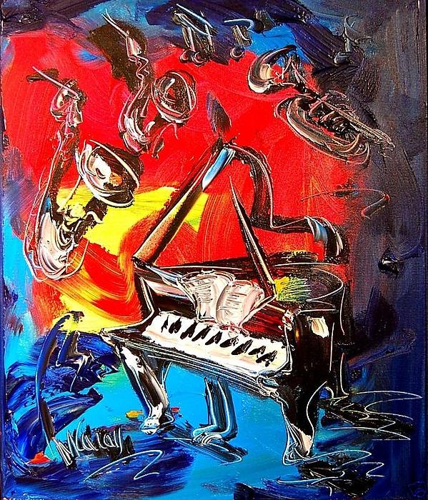 Nature Digital Art - Jazz Piano by Mark Kazav