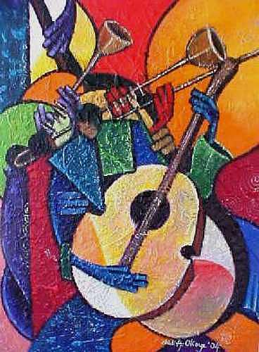 Jazz Time  Painting by Chidi Okoye