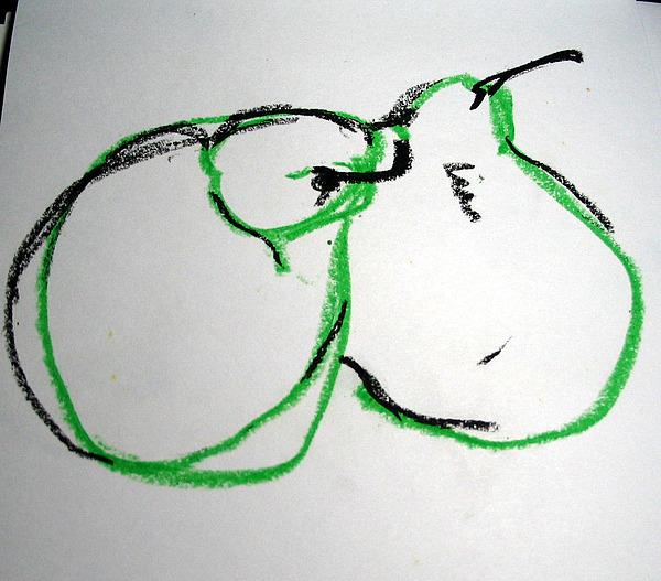 Paper Drawing - Jealous Pair by Linda DiGusta