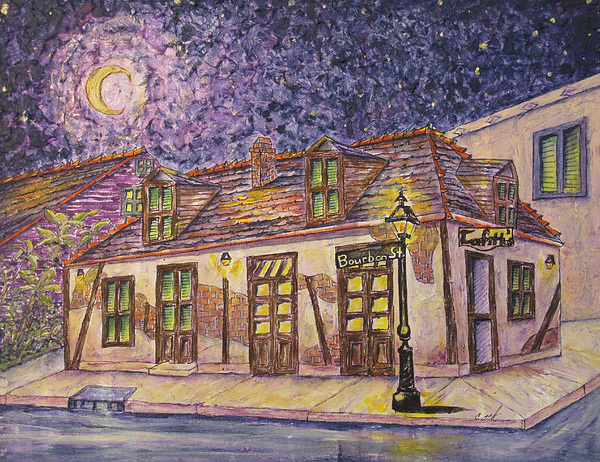 Bar Painting - Jean Lafitte Blacksmith Shop Bourbon Street New Orleans by Catherine Wilson