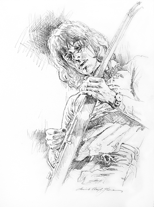 Jeff Beck Drawing - Jeff Beck - Truth by David Lloyd Glover