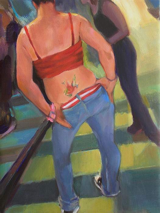 Tatoo Painting - Jen by Merle Keller