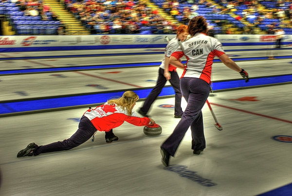 Curling Photograph - Jennifer Jones Throws by Lawrence Christopher