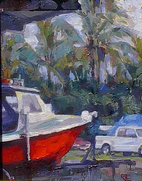 Jenny At The Iron Works - Hilo Painting by Rod Cameron