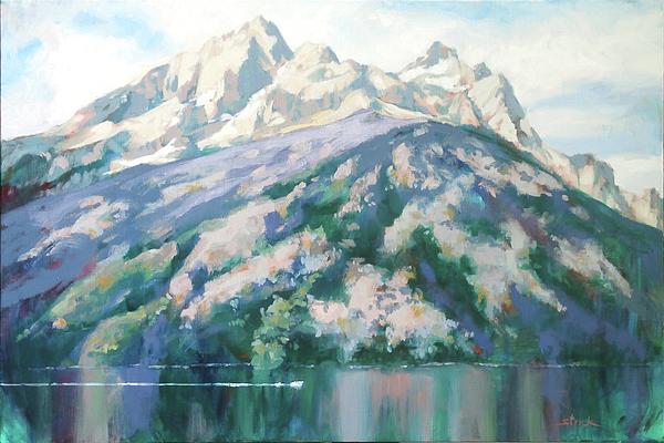Grand Tetons Painting - Jenny Lake by Carol Strickland