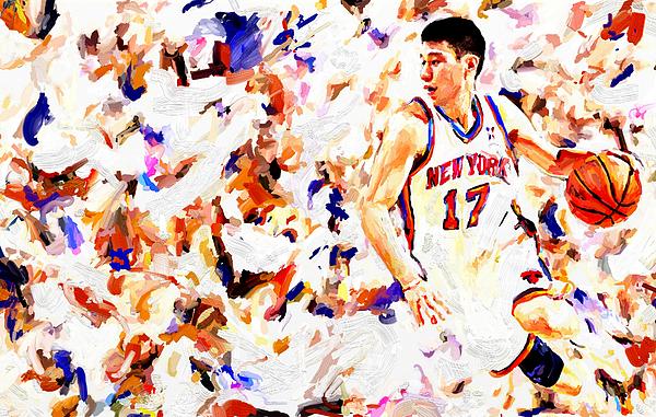 Jeremy Lin Painting - Jeremy Lin by Leon Jimenez