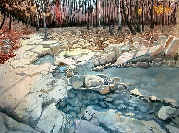 Landscape Painting - Jericho Rocks by Jeff Atnip
