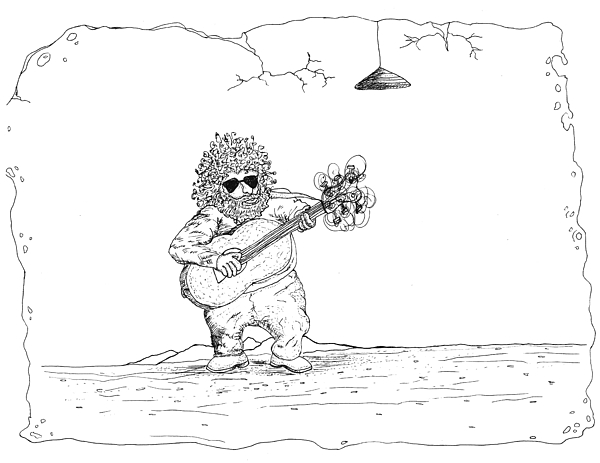 Jerry Garcia Drawing - Jerry Garcia by Michael Mooney