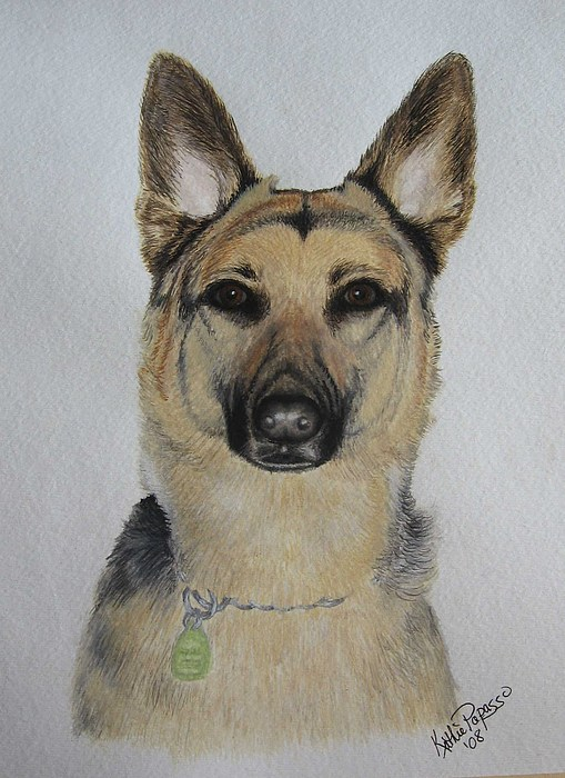 Dog Painting - Jerry Lee In Watercolor by Kathie Papasso