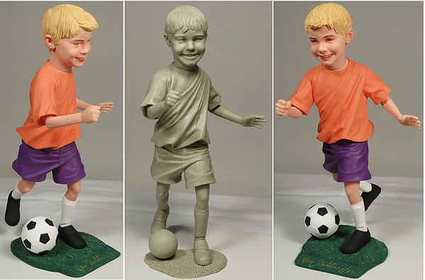 Soccer Sculpture - Jerry by Ray Santoleri