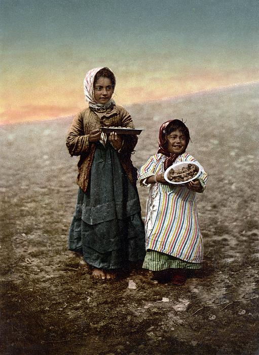 Girl Photograph - Jerusalem - Two Little Girls by Munir Alawi