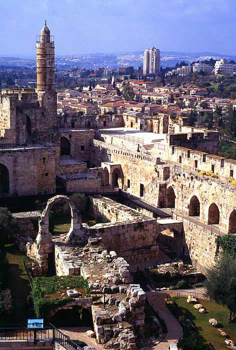 Israel Photograph - Jerusalem From The Tower Of David Museum by Thomas R Fletcher