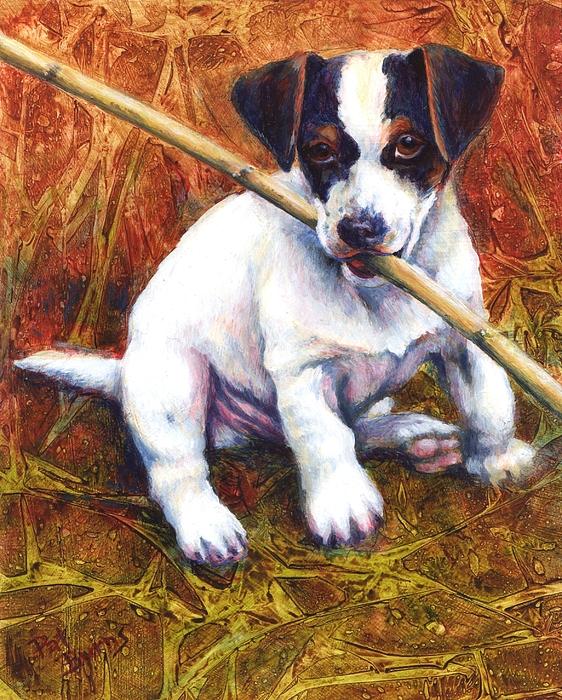 Dog Painting - Jesse James by Pat Burns
