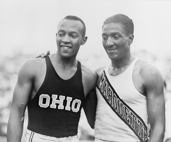 History Photograph - Jesse Owens 1913-1980 With Ralph by Everett