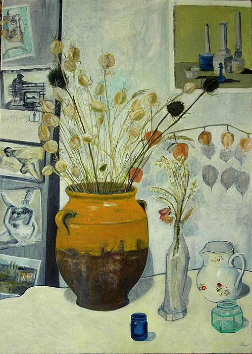 Still Life Painting - Jesses  50th Birthday Painting by Cassandra Einstein