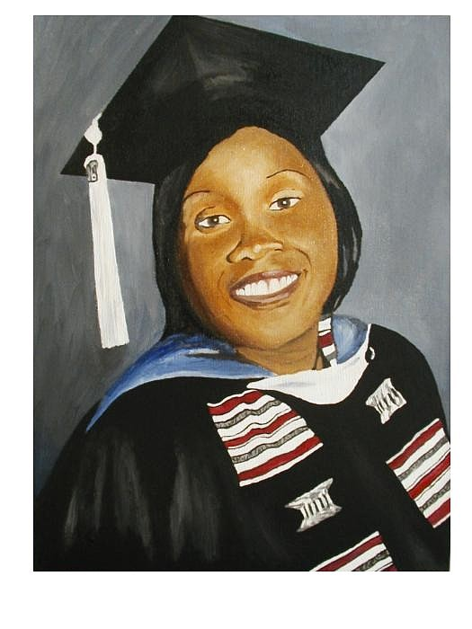 Portrait Painting - Jessie by Angelo Thomas