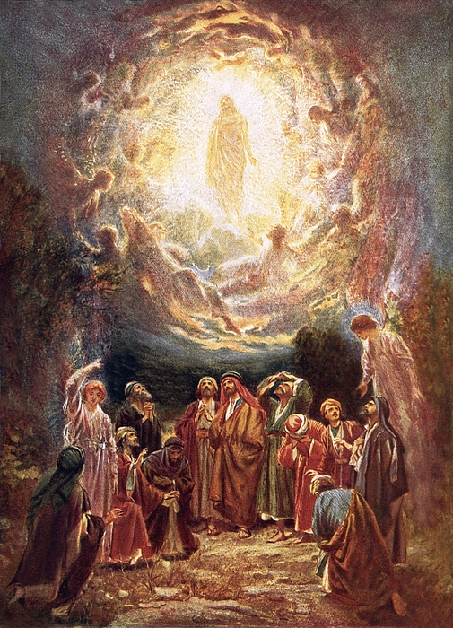 Jesus Painting - Jesus Ascending Into Heaven by William Brassey Hole
