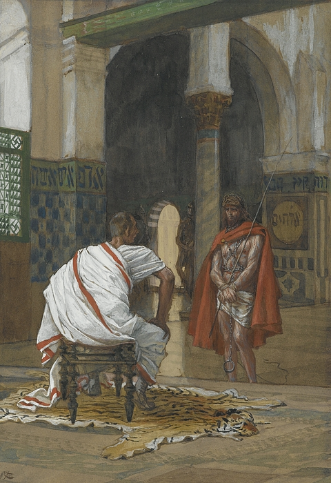 Christ Painting - Jesus Before Pilate by Tissot