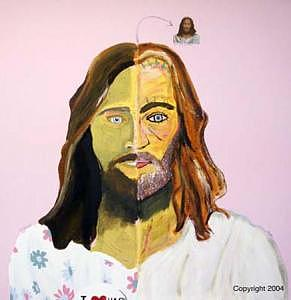 Jesus Painting - Jesus From Hackney by Sardine and Tobleroni The Monkey in the Box